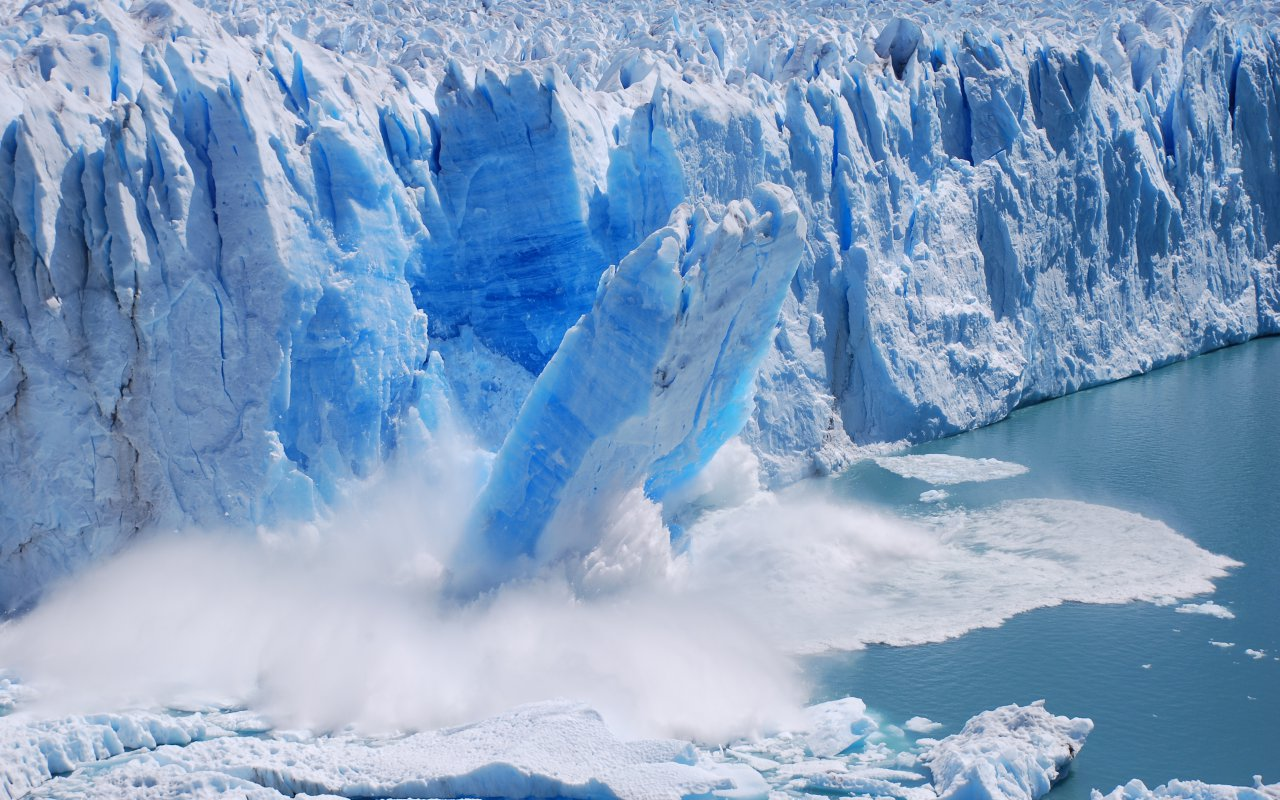 glacier patagonie - recul des glaciers