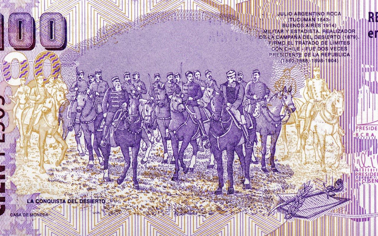 billet argentin julio argentino roca - histoire patagonie