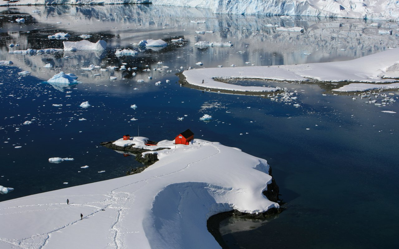 station scientifique argentine en antarctique