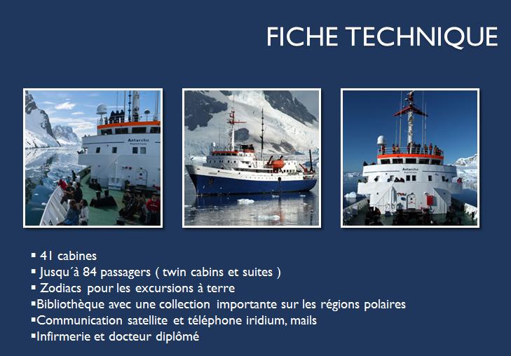 navire ushuaia fiche technique